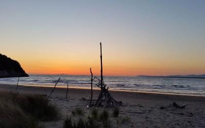 La spiaggia di Alberese al tramonto